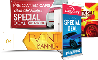 Indoor outdoor banners