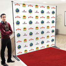 Back drop banner - Full color retractable back drop banner