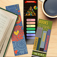 Custom bookmark printing - premium personalized bookmarks