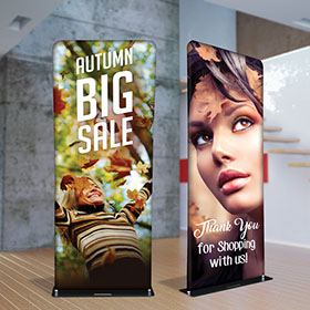 Fabric tube displays