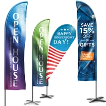 Custom printed flags, flag banners & feather flags