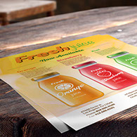 Custom printed cardstock flyers & sell sheets