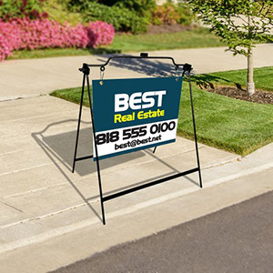 Sturdy, attractive hanging sign stand - Perfect for real estate signs