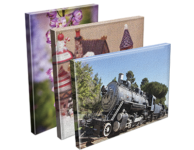 Feature those cherished photos with mounted canvas prints
