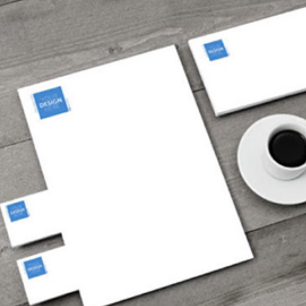 Raised print thermography letterhead, envelopes & business cards