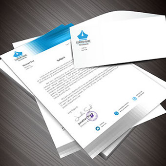 Custom letterhead & envelope - Request information