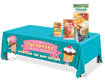 Custom printed tablecloths & table runners