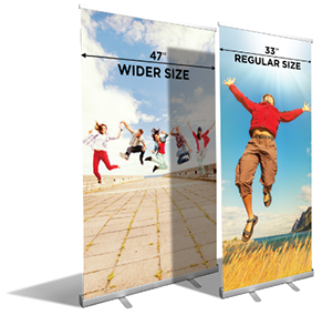 Pull up banner stands